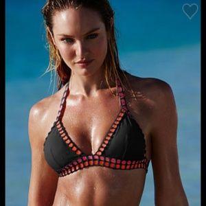 Victoria's Secret triangle crochet bikini top